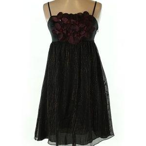 Burlapp 100% Silk Color Block A-Line Dress